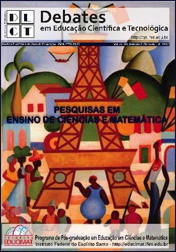 """Homenagem aos 125 anos de Tarsila do Amaral. Na capa da Revista Eletrônica Debates em Educação Científica e Tecnológica do Volume 3, Número 1, de junho de 2013, está apresentado o quadro """"Carnaval em Madeira"""". Na obra, percebe-se elementos da cultura brasielra como a vegetação, as cores caipiras, as construções, o ferro e a Torre Eiffel simbolizando o surgimento da elite, etc."""